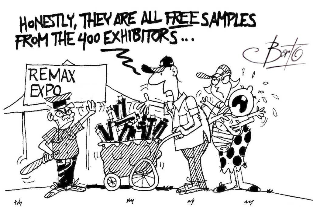 Free Samples from 400 Exhibitors Berto cartoon rtmworld