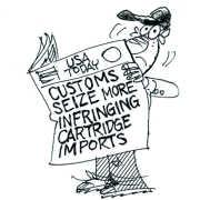 More Infringing Cartridges Seized Berto cartoon rtmworld