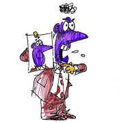 Seeing Red or is that Purple Berto cartoon rtmworld