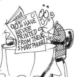 Most Have Never Used Mobile Printing berto cartoon rtmworld