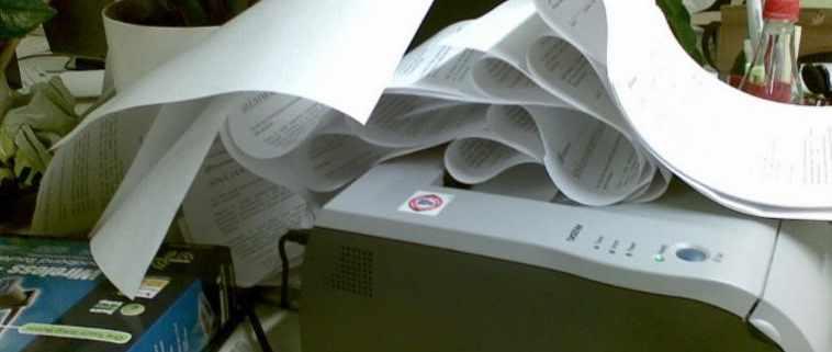Printer paper jam, a negative perception towards printers.