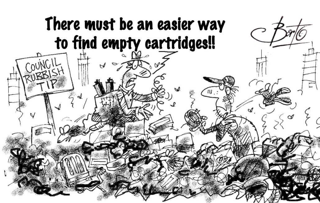 The Search for Empty Cartridges Berto cartoon rtmworld