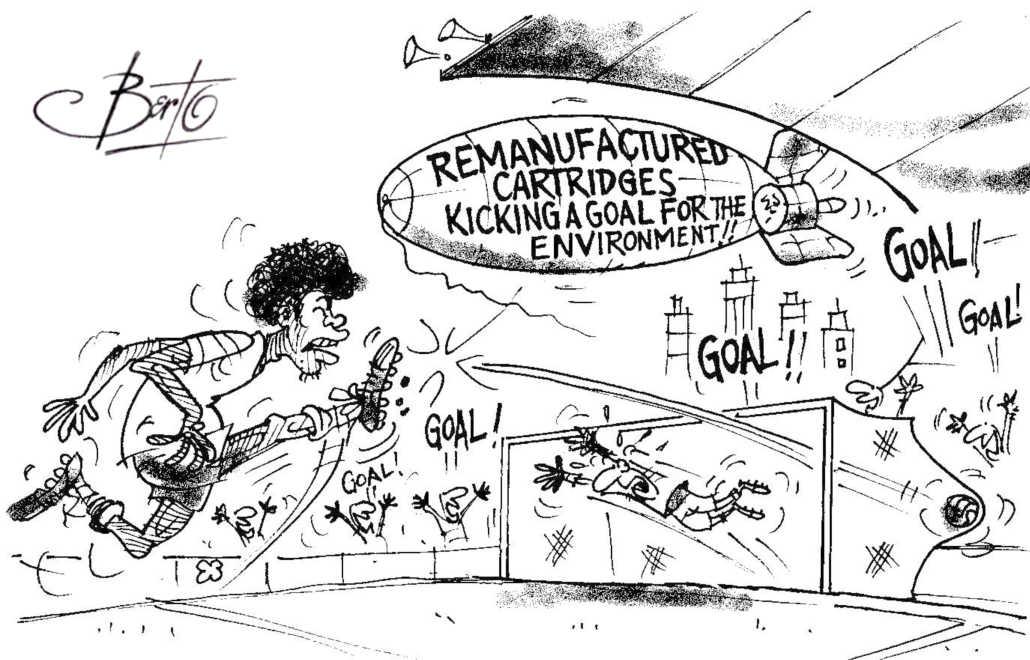 Kicking a Goal for Remanufacturing Berto cartoon rtmworld