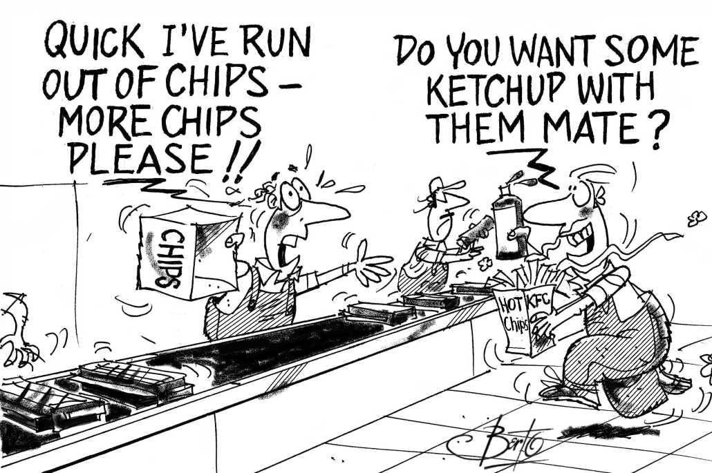 More Chips Needed on Line Berto cartoon rtmworld