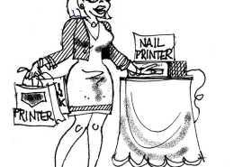 My Freshly Printed FingerNails Berto rtmworld cartoon