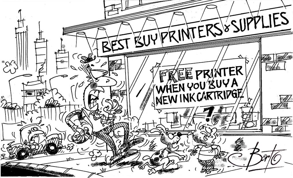 Berto Shocked: Free Printer When You Buy a Cartridge